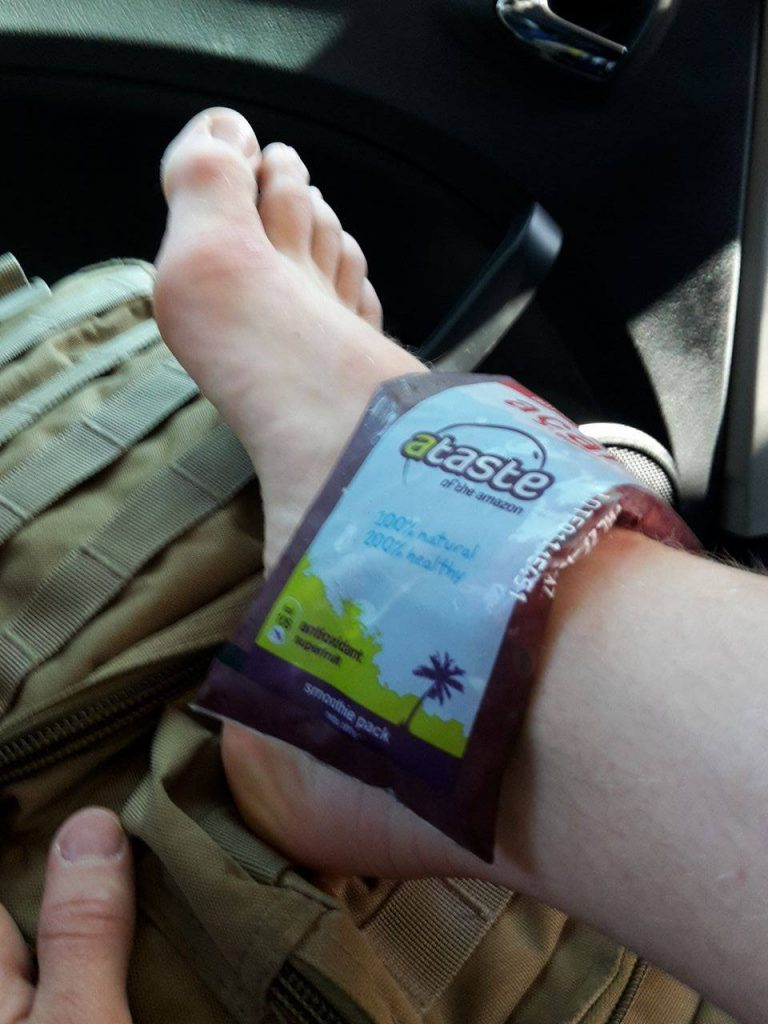 Cooling the ankle with Acai